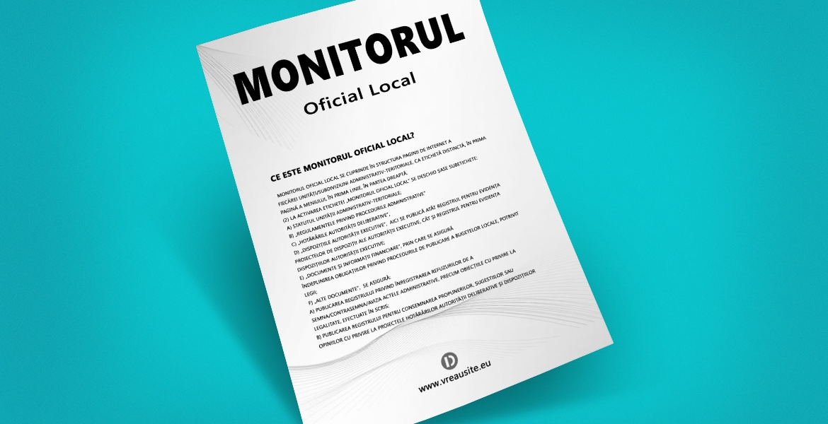 Monitorul oficial local - Primaria Jegalia